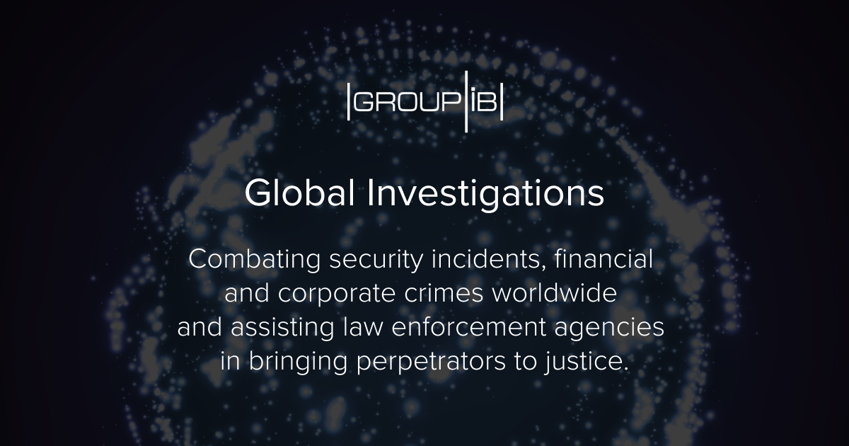 Cyber and financial crimes investigation - Group-IB